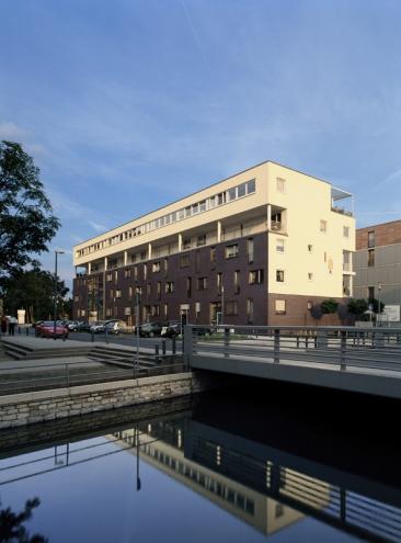 Wohnbebauung Duisburg - Innenhafen, Nord-West Ansicht